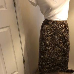 Talbots Leopard Print Skirt (16W)